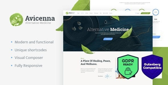 Avicenna | Alternative Folk Medicine Doctor WordPress Theme - Health & Beauty Retail