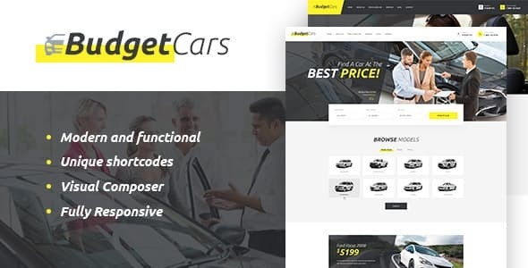 Budget Cars | Used Car Dealer & Rental WordPress Theme + Store - Retail WordPress