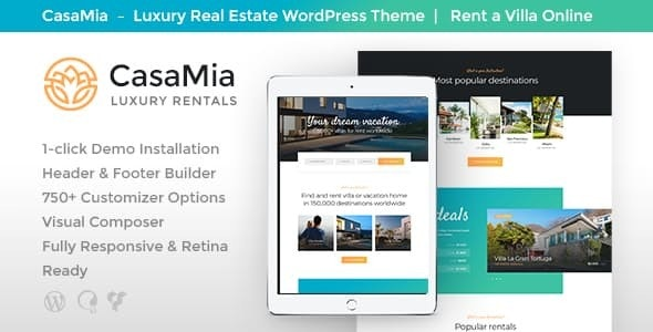 CasaMia | Property Rental Real Estate WordPress Theme - Real Estate WordPress
