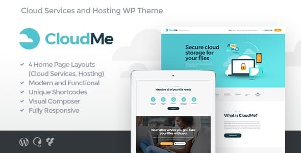 CloudMe | Cloud Storage & File-Sharing Services WordPress Theme - Technology WordPress
