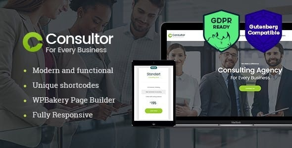 Consultor   A Business Consulting WordPress Theme - Business Corporate