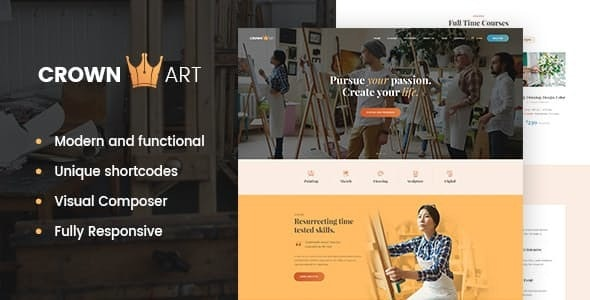 Crown Art | Drawing and Music School WordPress Theme - Education WordPress