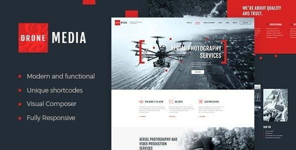 Drone Media | Aerial Photography & Videography WordPress Theme - Retail WordPress