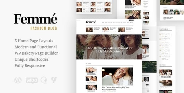 Femme - An Online Magazine & Fashion Blog WordPress Theme - News / Editorial Blog / Magazine