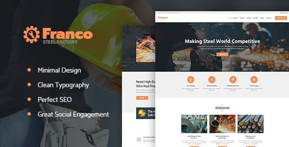 Franco | Steel Factory & Industrial Plant Manufactoring WordPress Theme - Business Corporate
