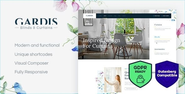 Gardis | Blinds and Curtains Studio & Shop WordPress Theme - Business Corporate