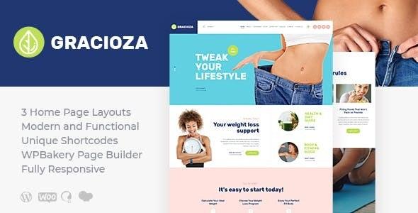 Gracioza   Weight Loss Company & Healthy Blog WordPress Theme