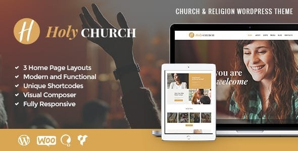 Holy Church | Religion, Charity & Nonprofit WordPress Theme - Churches Nonprofit