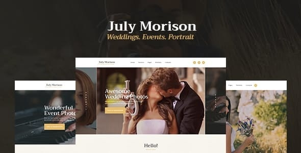 July Morison | An Alluring Event Photographer's Portfolio & Blog WordPress Theme - Photography Creative