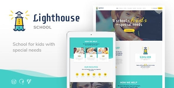 Lighthouse | School for Handicapped Kids with Special Needs WordPress Theme - Education WordPress