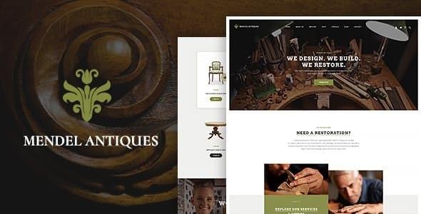 Mendel | Furniture Design & Interior Restoration WordPress Theme - Retail WordPress