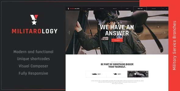 e1287b8cc Militarology | Military Service WordPress Theme ...