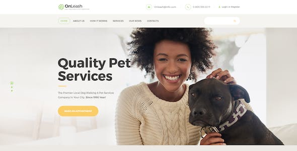 Dog Walking Website Templates From