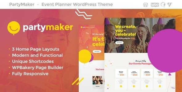 PartyMaker   Event Planner WordPress Theme