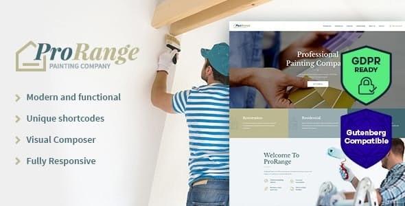 ProRange | Painting & Renovation Construction Company WordPress Theme - Business Corporate
