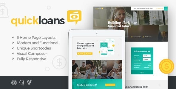 QuickLoans | Loan Company WordPress Theme by AncoraThemes