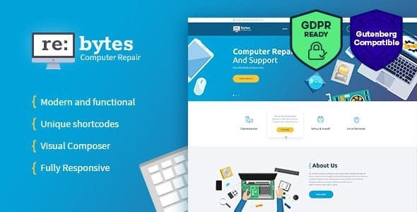 Re:bytes | Computer Repair Service WordPress Theme - Business Corporate