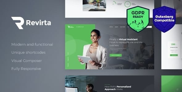 Revirta | Personal Virtual Assistant & Secretary WordPress Theme - Business Corporate