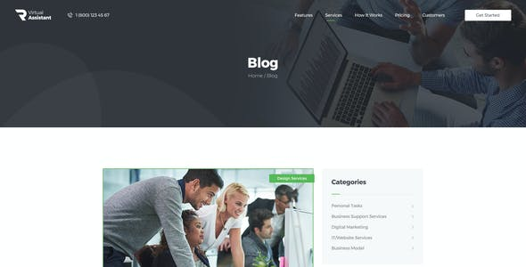Revirta   Personal Virtual Assistant & Secretary WordPress Theme