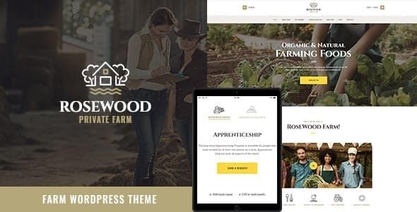 Rosewood   Organic Farming WordPress Theme
