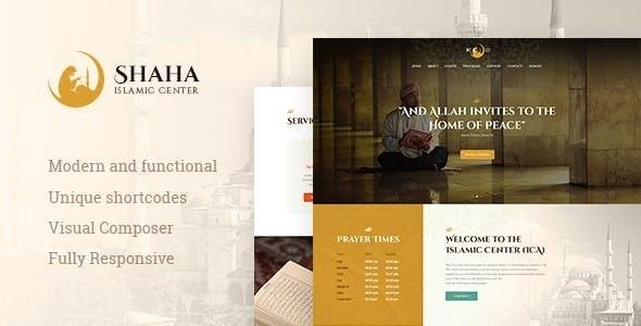 Shaha | Islamic Centre WordPress Theme + RTL - Churches Nonprofit