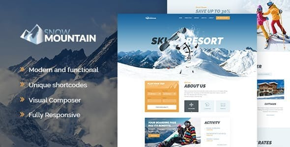 Snow Mountain | Ski Resort & Snowboard School WordPress Theme