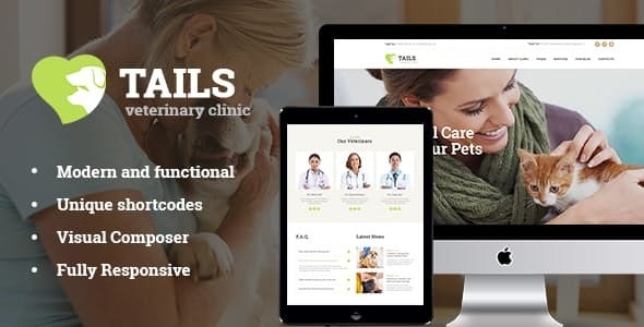 Tails | Veterinary Clinic, Pet Care & Animal WordPress Theme + Shop - Retail WordPress