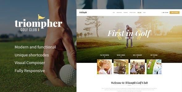 Triompher | Golf Course & Sports Club WordPress Theme - Entertainment WordPress