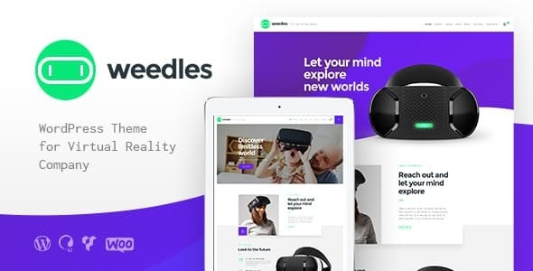 Weedles | Virtual Reality Landing Page & Store WordPress Theme - Technology WordPress