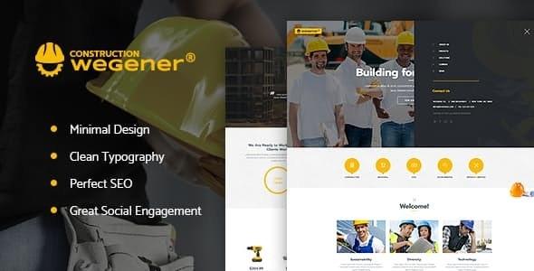 Wegener | Construction Business & Engineering Building WordPress Theme - Business Corporate