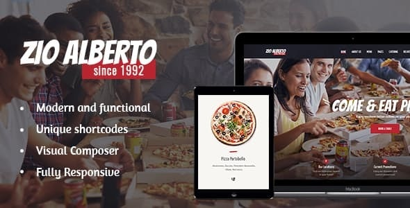Zio Alberto | Pizza Restaurant, Cafe & Bistro WordPress Theme - Restaurants & Cafes Entertainment