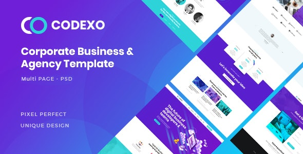 CODEXO - Corporate/Business PSD Template - Photoshop UI Templates