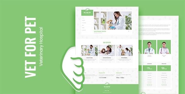 VET FOR PET - Pet, Animal Doctor & Veterinarian Bootstrap Template - Health & Beauty Retail