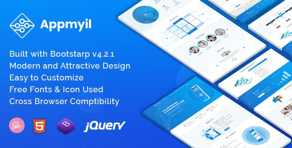 Appmyil - App Landing Template - Technology Site Templates