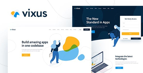 Android Studio App Website Templates from ThemeForest