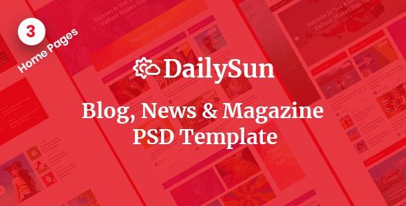 DailySun - Blog, News & Magazine PSD Template - Miscellaneous Photoshop