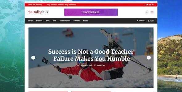 DailySun - Blog, News & Magazine PSD Template