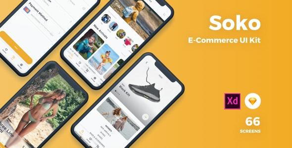 Soko - Ecommerce UI Kit - Sketch UI Templates
