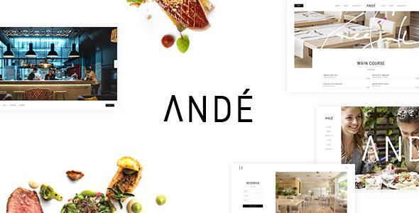 Andé - Elegant Restaurant Theme - Restaurants & Cafes Entertainment