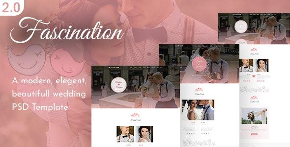 Fascination - Wedding HTML5 Template - Wedding Site Templates