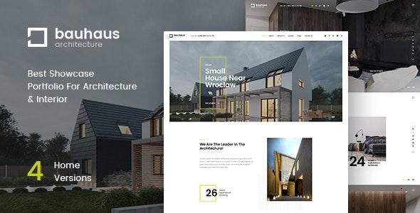 Bauhaus - Architecture & Interior Landing Page HTML Template - Portfolio Creative