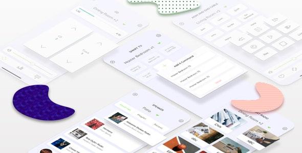 HOPL - Home Control Mobile Sketch App - Sketch UI Templates