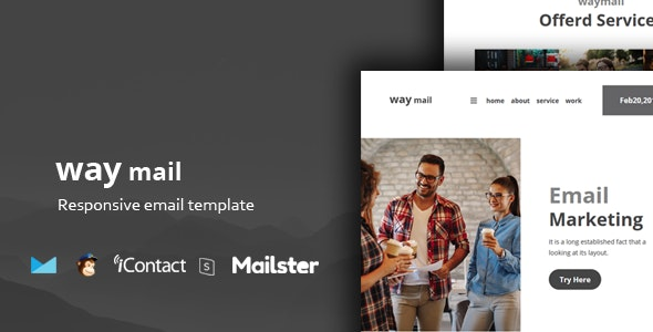 Way Mail - 30+ Modules + Online Access + Mailster + MailChimp - Email Templates Marketing