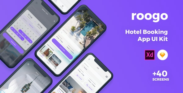 Roogo - Hotel Booking UI Kit - Business Corporate