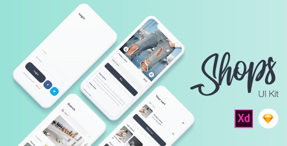 Shops - E-Commerce Mobile App UI Kit - Shopping Retail