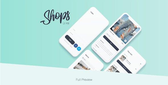 Shops - E-Commerce Mobile App UI Kit