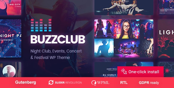 Buzz Club - Night Club, DJ & Music Festival Event WordPress Theme - Nightlife Entertainment