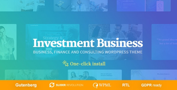Investment Business - Finance & Investment Consulting WordPress Theme - Business Corporate