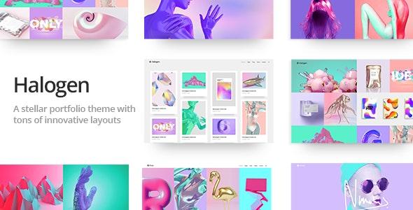 Halogen - Innovative Portfolio Theme - Portfolio Creative