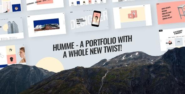 Humme - Design Portfolio Theme - Portfolio Creative